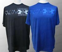 Men's Under Armour UA T-Shirt Gym Tee Loose Fit Logo Black Blue S M L XL BNWT