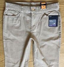 BNWT Ladies M & S Beige Boot Leg Stretch Cords Jeans Size 10 S W28 L28 (381)