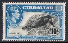 Gibraltar KGVI 1938 10s 10/- Black Blue P14 SG130 Mint MH