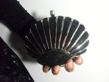 Sac à main pochette minaudière original coquillage ariel sirène noir brillant