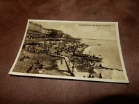 Real photographic Sussex postcard - Carlisle parade & beach - Hastings