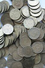 5 Reichspfennig III Reich 1937 - 1939 mit HK Sammlung 157 Stück