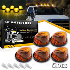 For 69-87 Chevy GMC Cab Roof Marker Light Cover Lens Kit + T10 LED Amber Yellow