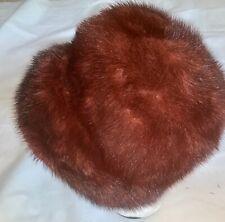 Vintage Genuine Red Fox Fur Cloche Womans Hat M Medium Cap
