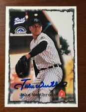JAKE WESTBROOK 1997 BEST AUTOGRAPHED SIGNED AUTO BASEBALL CARD 38 ROCKIES