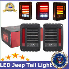 2X Jeep Wrangler JK 07-16 LED Tail Lights Rear Brake Reverse Lamps For US Model
