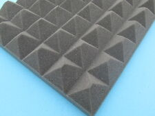 ACOUSTIC  FOAM PYRAMID STYLE TILES 400mm x 400mm x 50mm (12 Tile Pack)