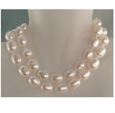 """Sea Baroque Pearl Necklace 14K Huge 36""""11-13Mm Natural White South"""