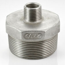 """1/2"""" Male Reducer HEX SCREWED NIPPLE BSPT THREAD 304 STAINLESS STEEL FITTING"""