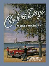 Edsel Carefree Days West Michigan Wonderland Travel Vintage Poster Repro Free Sh
