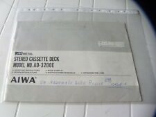 Aiwa AD-3200E  Owner's Manual  Operating Instructions Istruzioni