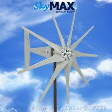General Freedom II 9 blade 12 volt 2000 watt max wind turbine gray blades