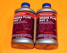 2 x NEW GENUINE HONDA BRAKE DOT 3 Fluid Oil -- BUY HONDA FOR YOUR HONDA --