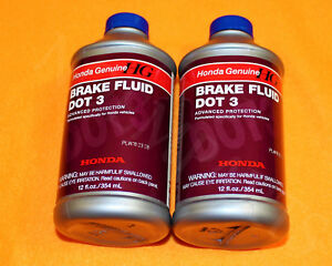 2 x NEW GENUINE HONDA BRAKE DOT 3 Fluid Oil -- BUY HONDA FOR YOUR HONDA --