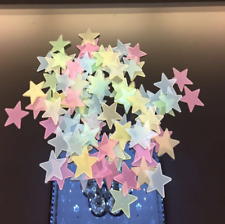 100PCS Mix Luminous Star Wall Stickers Glow In The Dark Kids Room Décor Decal