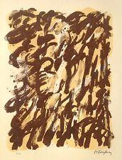 1€ Robert HELMAN Lithographie Originale VI Signée Crayon 1965 Soulages Pierre