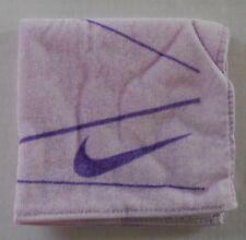 Nike Graphic Mini Towel 100% Cotton 25cm x 25cm Light Purple/Bright Violet New