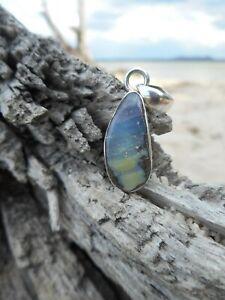 Australian Boulder Opal 925 Sterling Silver Pendant