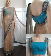 Net Saree Sari Indian Designer  Wedding Bollywood party Ethnic w/blouse women