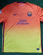 Thierry Henry mano firmado Barcelona Lejos Camiseta De Fútbol-Autógrafo-cert. de autenticidad
