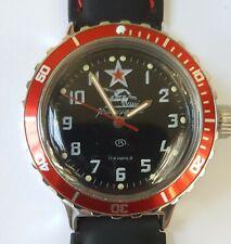 Vostok Komandirskie Amphibian 200m Vintage Man Watch Rare Tank Dial Soviet Ussr