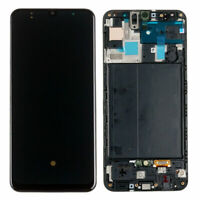For Samsung Galaxy A50 2019 A505 F DS LCD Touch Screen Digitizer Black Frame AUS