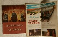 Vtg RAILROADS AT WORK 1948 Picture Book,Trains Locomotives 3rd & Grand Canyon RR