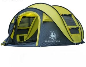 Automatic Camping Tent Quick Opening Nail Rope Summer Beach Tents Breathable Set