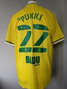 Norwich City Home Football Shirt 2020-2021 BNWT 22 Pukki