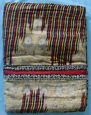 INDIAN HANDMADE STITCHED COTTON BED SPREAD THROW KANTHA QUILT BED COVER TAPESTRY
