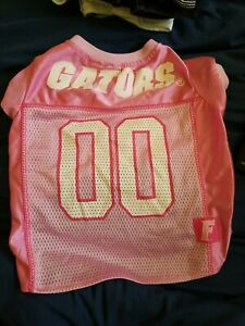 Florida Gators NCAA Licensed Pink Dog Football Jersey Small or Med Mesh Shirt