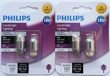 Lot of 2 Philips 1.2W/7W T5 Wedge Base 12V LED Landscape Light Bulb 463448 New