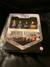 Justice League Pez Gift Set in Tin - Superman,Cyborg,Batman,Aq uaman.