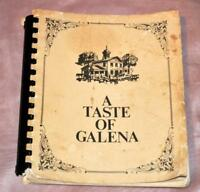 VTG COOKBOOK 1973 Taste of Galena HOSPITAL AUXILIARY, LOCAL RECIPES IOWA CITY IA
