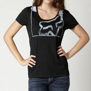 Fox Womens Bindings Relaxed Tee Shirt Black