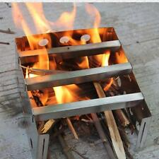 Portable Stainless Steel Wood Stove Outdoor Camping Survival Burning Cookware