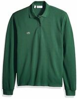 Lacoste Mens Classic Long Sleeve Pique Polo Shirt, Green, Size 6.0 QPrW