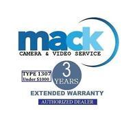 3Yr Mack Accidental Warranty (#1307) For Digital Camera/Video under $1000
