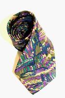 "Vintage Brioni for Cedrics Mens Necktie Tie Pure Silk 60"" Roma Made in Italy EUC"