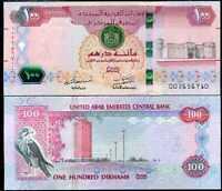 w//Tactile BARS P NEW UNC 2015 UAE UNITED ARAB EMIRATES 100 DIRHAMS 2014