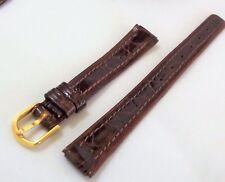 cinturino testa di  moro vero coccodrillo tipo longines ansa 12 mm fibbia gold