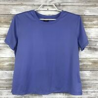 Patagonia Womens Top Sz L Short Sleeve Solid Purple Baselayer T-Shirt