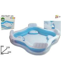 Piscina con 4 sillones Intex 2.29x2.29x6