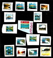 16X New Zealand, VARIOUS STAMPS ON PAPER, WITH INTERESTING PMARK, FU