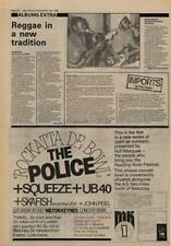 Police The Squeeze UB40 Skafish John Peel Advert NME Cutting 1980
