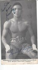 "RANDOLPH ""RANDY""TURPIN SIGNED VINTAGE POSTCARD SENT BY HIMSELF UNIQUE AND RARE"