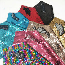 Reversible Mermaid Sequin Fabric Shiny Fish Scale Bag Dress Bows Craft Decor