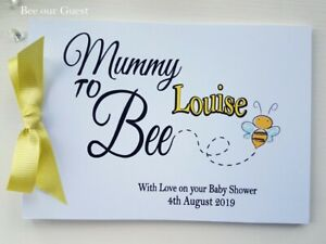 """PERSONALISED """"MUMMY TO BEE""""  MUMMY TO BE - BABY SHOWER GUEST BOOK"""