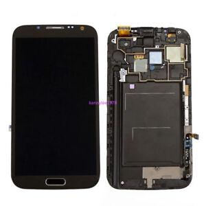 Gris LCD Écran Vitre Tactile Châssis Pour Samsung Galaxy Note2 N7100+cover+tool