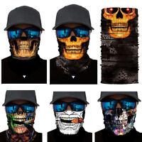 Joker Skull Motorcycle Biker Neck Tube Scarf Snood Face Mask Warmer Balaclava